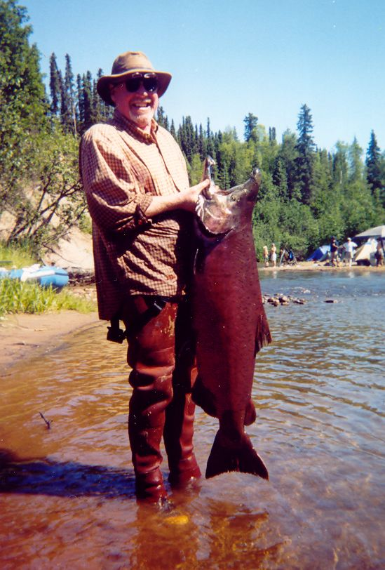 Craig with his King Salmon